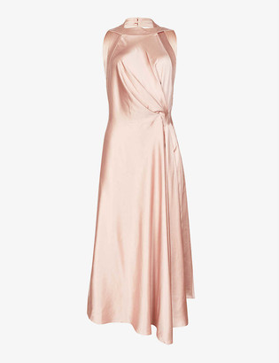 Reiss Rita open-back satin midi dress