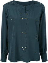 Isabel Marant studded Otto blouse - women - Silk/Brass - 36