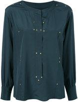 Isabel Marant studded Otto blouse - women - Silk/Brass - 36