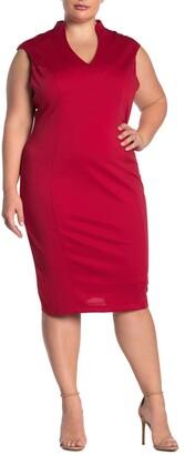 Alexia Admor Katrina V-Neck Midi Dress