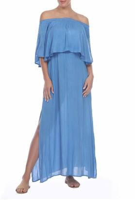 BOHO ME Off-the-Shoulder Cover-Up Maxi Dress