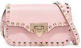 Valentino The Rockstud Leather Shoulder Bag - Pastel pink