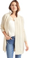 Gap Cable knit notch collar cardigan