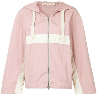 Marni colour-block hooded jacket