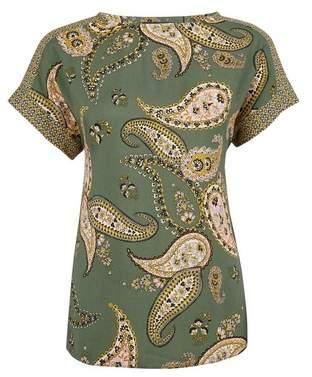 Dorothy Perkins Womens Khaki Paisley Print T