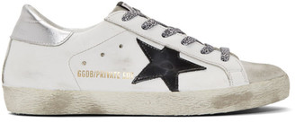 Golden Goose SSENSE Exclusive White Superstar Sneakers