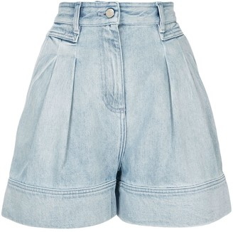 IRO Wide-Leg Denim Shorts