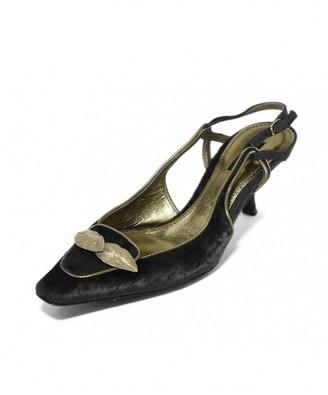 Dolce & Gabbana Brown Velvet Heels