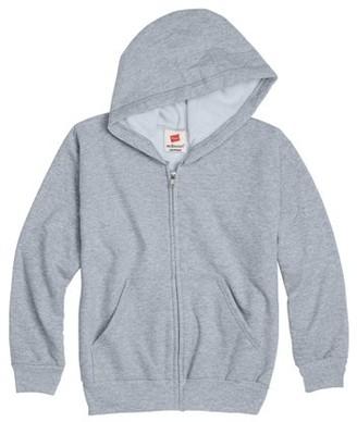 Hanes Boys EcoSmart Fleece Full Zip Hooded Jacket, Sizes 4-18