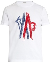 Moncler Logo-embroidered Cotton T-shirt