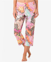 Ellen Tracy Printed Cropped Pajama Pants