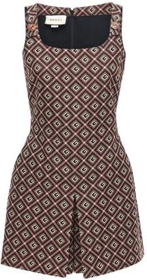 Gucci Gg Cotton Blend Mini Jumpsuit