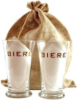 ACME Party Box Company Pilsner Biere Glasses Gift Set