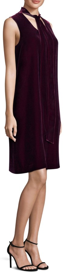 Lafayette 148 New York Ronan Velvet Tie Shift Dress