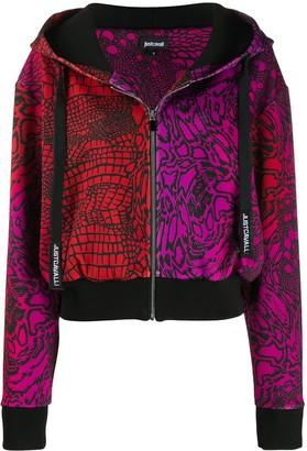 Just Cavalli Graphic Print Zip-Up Jacket
