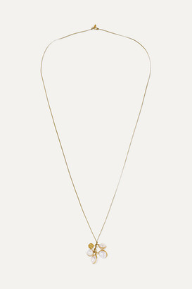 Pippa Small 18-karat Gold, Cord And Pearl Necklace - one size