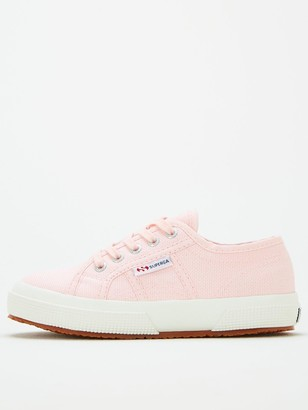 Superga Girls 2750 Jcot Classic Lace Up Plimsoll Pumps - Pink