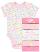 George 7 Pack Unicorn Bodysuits