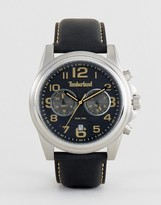 Timberland Black Pickett Watch With Multi Functional Dial
