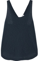 Splendid Crossover-back Slub Supima Cotton And Micro Modal-blend Tank - Navy