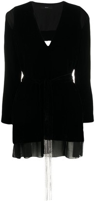 Diesel Cutout Velvet Wrap Dress