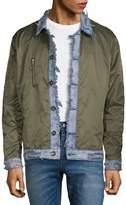 DNM Collection Men's Denim-Collar Jacket