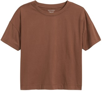 Banana Republic SUPIMA Cotton Cropped T-Shirt