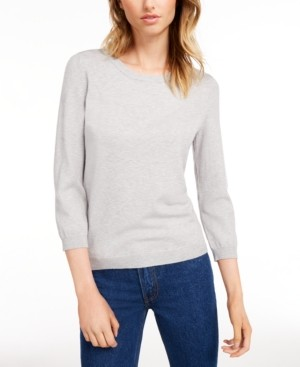 Maison Jules Crewneck 3/4-Sleeve Sweater, Created for Macy's