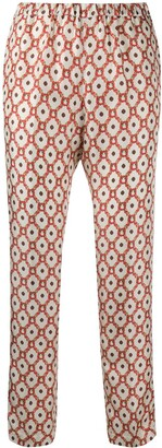 Alberto Biani Floral Patterned Straight-Leg Trousers