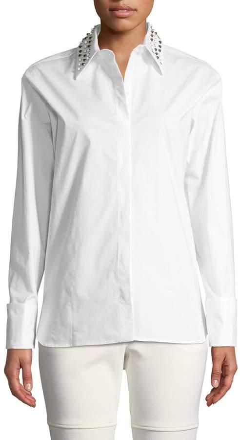 Derek Lam Women's Studded Button-Front Shirt