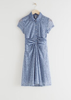 Thumbnail for your product : And other stories Buttoned Draped Waist Mini Dress