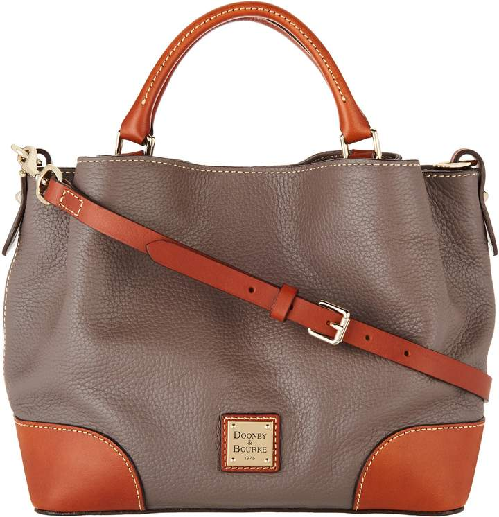 Dooney & Bourke Pebble Leather Small Brenna Satchel