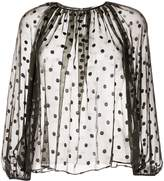 TOMORROWLAND polka-dot chiffon blouse