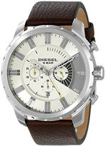 Diesel Men's DZ4346 Stronghold Stainless Steel Brown Leather Watch