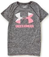 Under Armour Big Girls 7-16 Heathered Novelty Big Logo Short-Sleeve Tee