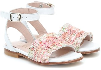 Bonpoint Tana floral leather sandals