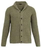 THE GIGI Dion shawl-collar ribbed wool-blend cardigan
