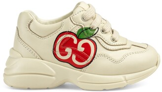Gucci Toddler GG apple print Rhyton sneaker