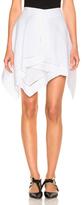 J.W.Anderson Short Handkerchief Skirt in White.