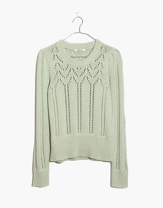Madewell Pointelle Puff-Sleeve Sweater
