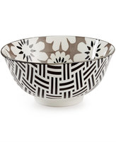"Certified International Chelsea Collection Porcelain 6"" Gray Floral Bowl"