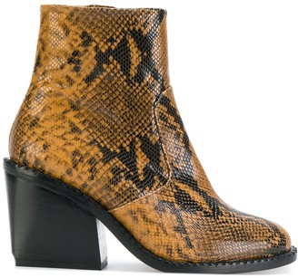 Clergerie Mayan snake-skin effect boots