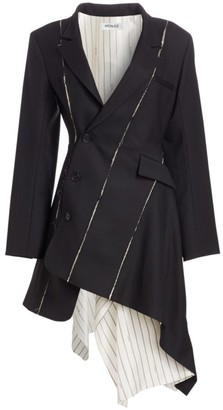 Monse Deconstructed Stretch Virgin Wool Blazer Dress