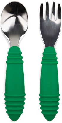 Bumkins Toddler Jade Fork and Spoon Set
