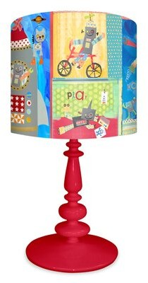"""Oopsy Daisy Fine Art For Kids Robots 21"""" Table Lamp"""