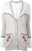 Stella McCartney embroidered Western robin cardigan - women - Polyester/Virgin Wool - 42