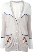 Stella McCartney embroidered Western robin cardigan