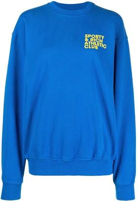 Sporty & Rich Logo-Print Cotton Sweatshirt