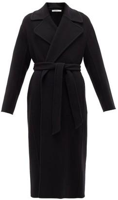 Another Tomorrow - Double-breasted Merino-wool Midi Coat - Black