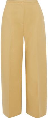 KHAITE Charlize Cotton-twill Wide-leg Pants